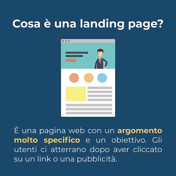 una landing page è una pagina web con un argomento molto specifico