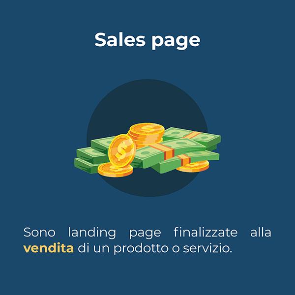 sono landing page finalizzate alla vendita