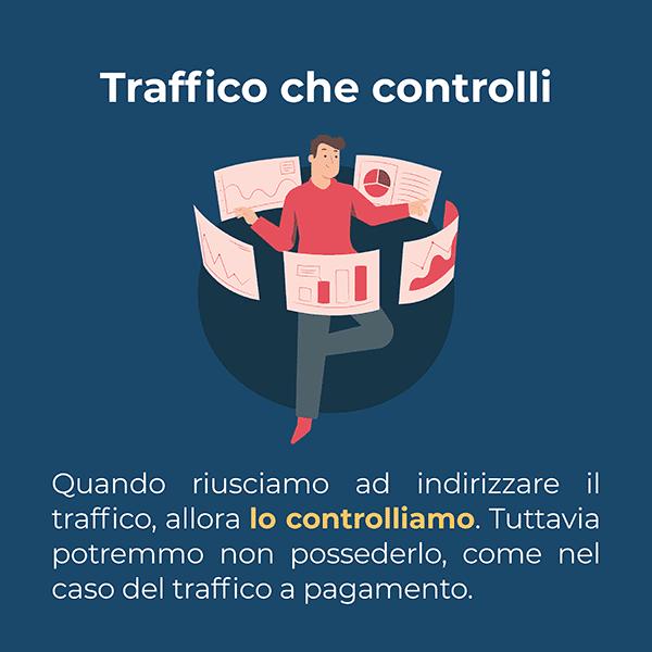 Il traffico che controlliamo non è detto che lo possediamo