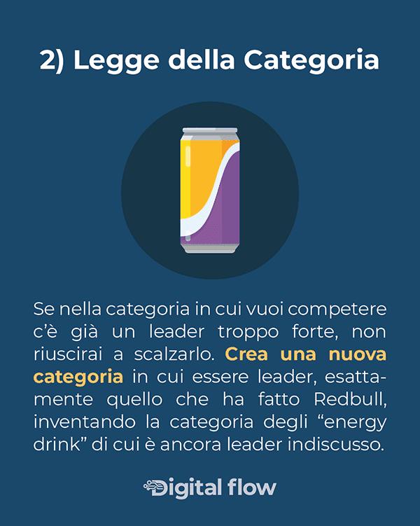 Le 22 immutabili leggi del marketing: legge della categoria. Crea un nuova categoria in cui essere leader con il tuo brand