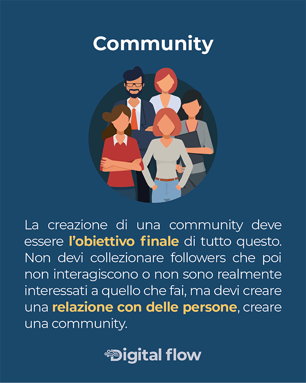 La creazione della community è l'obiettivo