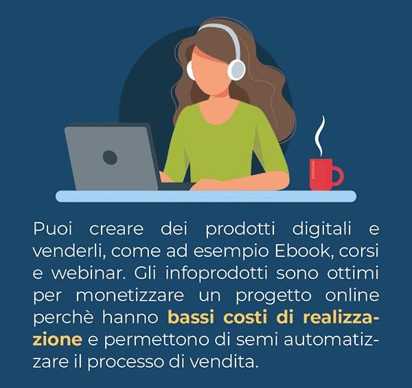 Tramite il tuo blog puoi vendere corsi online ed Ebook, prodotti digitali ad alto valore