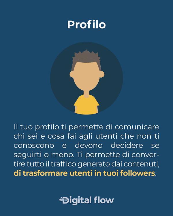 Il profilo ti serve per trasformare utenti in follower