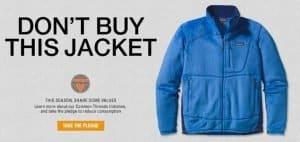 Non comprare questa giacca